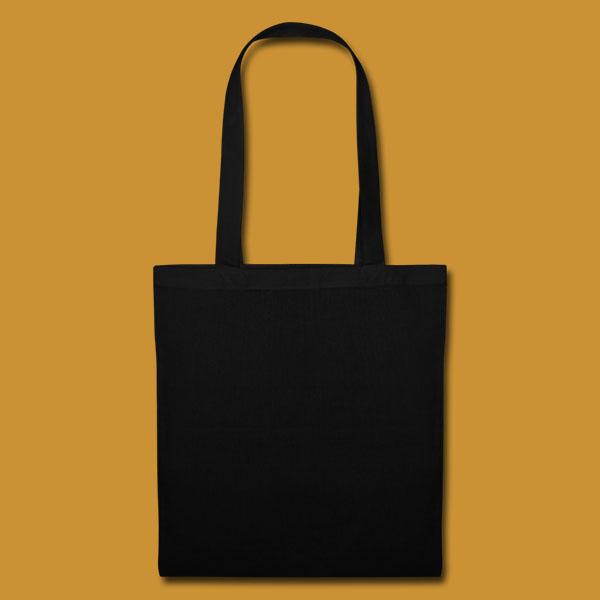 Tote Logo Black Back