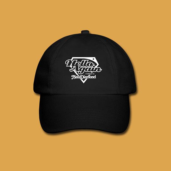 Unisex Black Cap Front