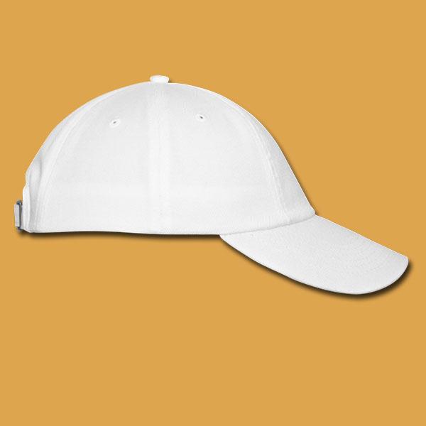 White Logo Cap Unisex Right