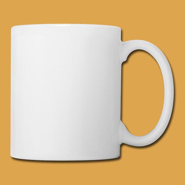 White Mug Back