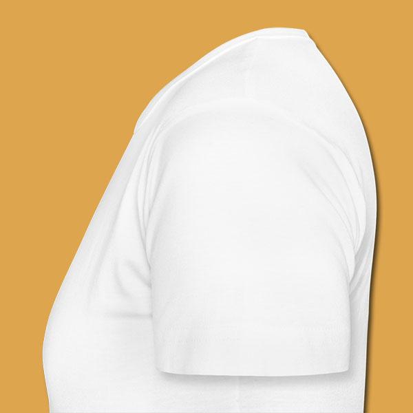 Womens White Logo T Left